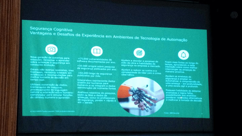 """Dr. Paulo Pagliusi apresentou """"Segurança Cognitiva: Vantagens e Desafios da Experiência em Ambiente de Tecnologia de Automação""""."""