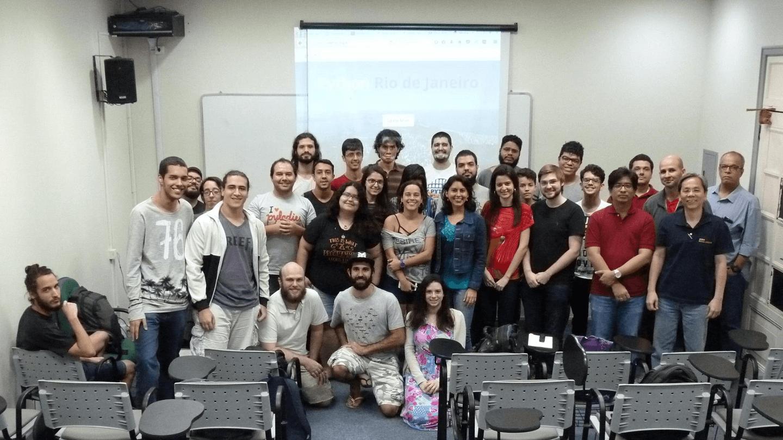 """O Prof. Dr. Eng. Fernando Hideo Fukuda, CEO na Fukuda Solutions, Coordenador do Curso de Engenharia da Computação e do Curso de Ciência da Computação e Professor no Campus Tijuca da UVA, co-realizou o """"XX Encontro da Python Rio"""" com a Comunidade Python do Rio de Janeiro no Campus Tijuca da UVA."""
