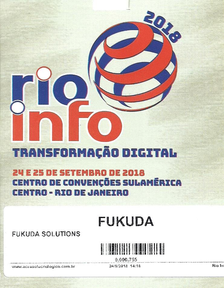Dr. Eng. Fernando Hideo Fukuda, CEO na Fukuda Solutions, tive a satisfação em participar no Rio Info 2018 e realizar meetings de negócios, parcerias, mentorias, networking, compartilhamentos de conhecimentos e trocas de experiências.