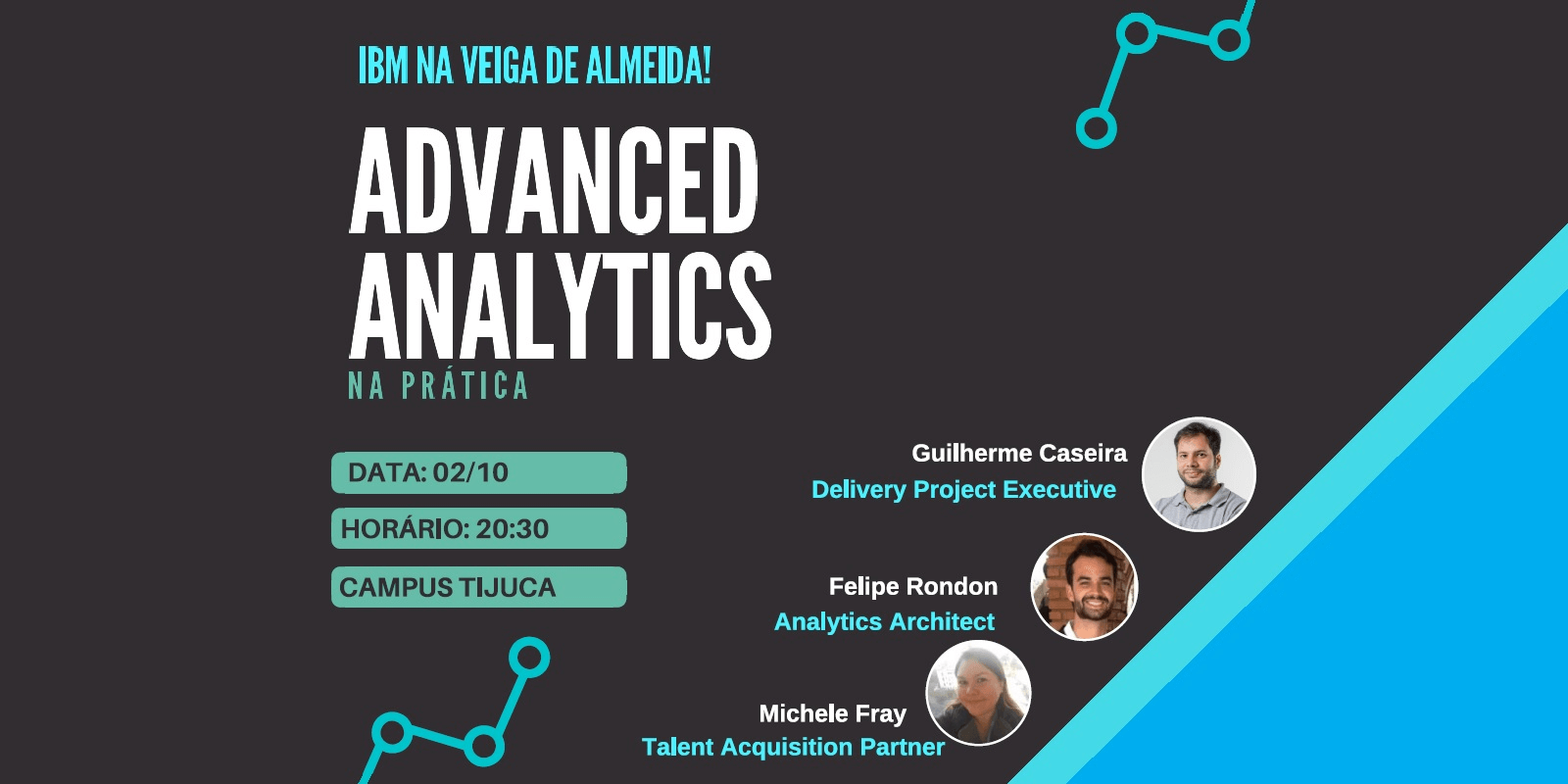 "O Prof. Dr. Eng. Fernando Hideo Fukuda, CEO na Fukuda Solutions, Coordenador do Curso de Engenharia da Computação e do Curso de Ciência da Computação e Professor no Campus Tijuca da UVA, organizou o Seminário ""Advanced Analytics na Prática"" com a Michele Fray, Talent Acquisition Partner, na LA Talent Acquisition, na IBM Human Resources, da IBM."